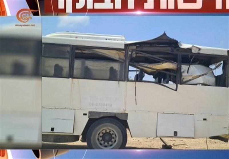 هدف قرار گرفتن اتوبوس حامل نظامیان اشغالگر با موشک هدایتشونده مقاومت