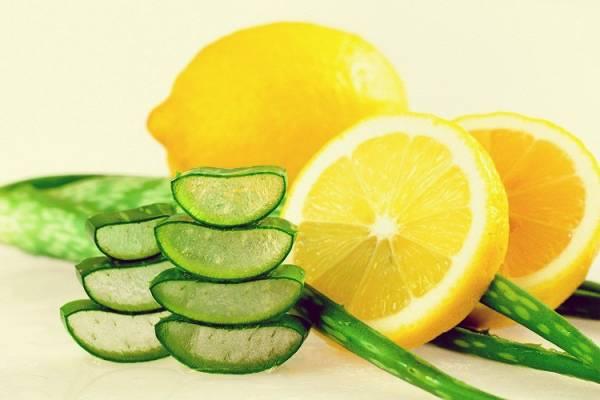 آلوئه ورا و لیمو