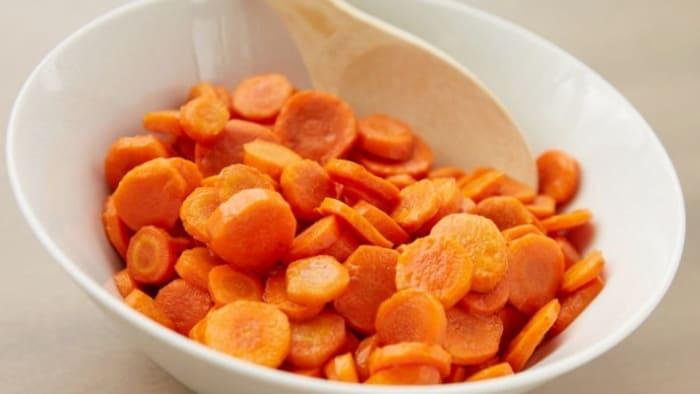 خوردن هویج پخته