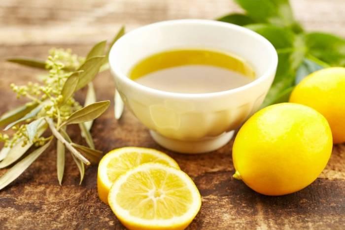 روغن زیتون و لیمو