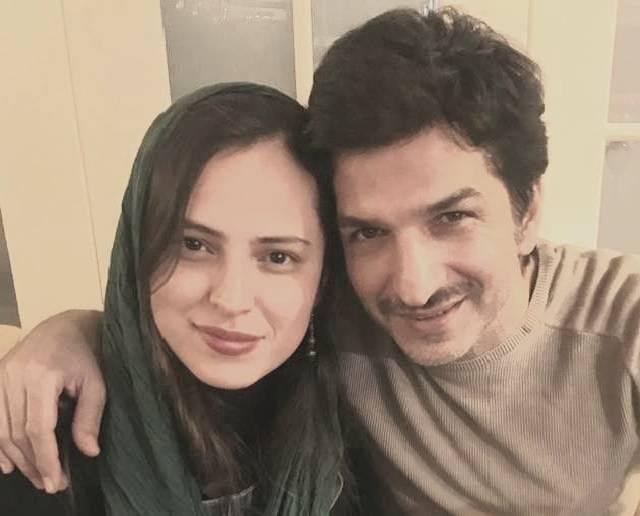 مهدی صباغی و همسرش