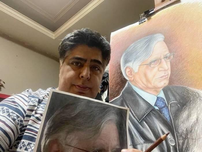 نقاشی با ارزش رضا شفیعی جم