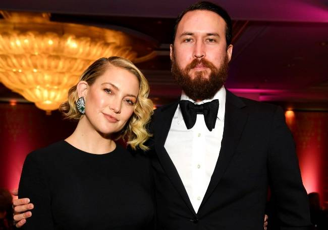 کیت هادسون و همسرش