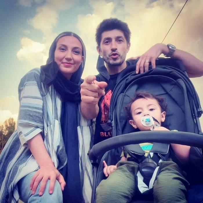 زوج بازیگر مشهور تلویزیون در کنار پسر خردسالشان
