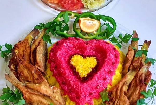برنج رنگی رنگی با رسپی رستوران های معروف